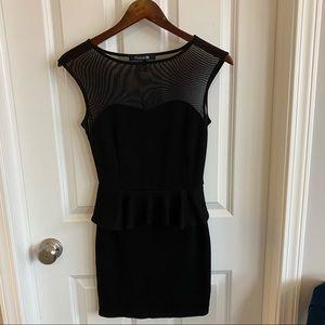 Forever 21 Black Peplum Mini Dress